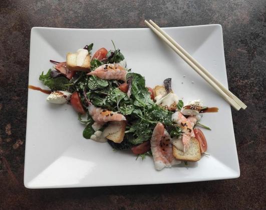 Салат з креветками